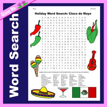 Holiday Word Search: Cinco de Mayo