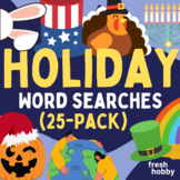 Holiday Word Search Collection (25 Puzzles / Every U.S Hol