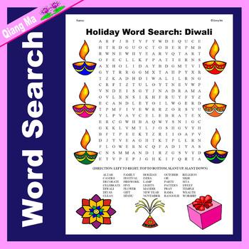 Holiday Word Search: Diwali