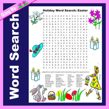 Holiday Word Search: Easter