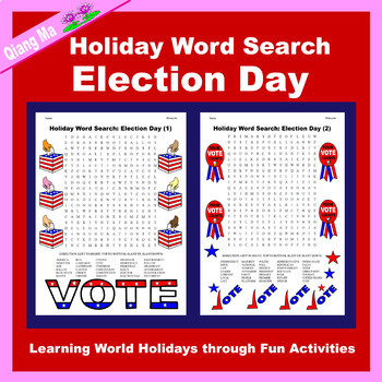 Holiday Word Search: Election Day