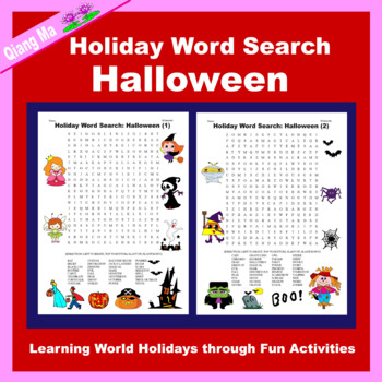 Holiday Word Search: Halloween