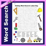 Holiday Word Search: Labor Day
