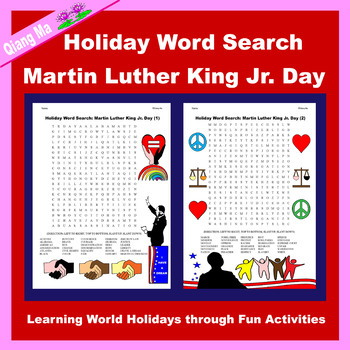 Holiday Word Search: Martin Luther King Jr. Day