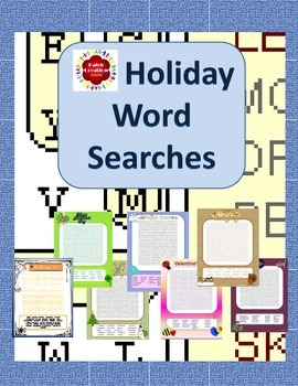 Holiday Word Search Packet