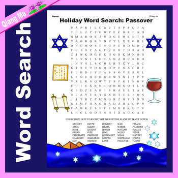 Holiday Word Search: Passover