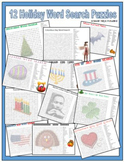 Holiday Word Search Puzzles