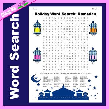 Holiday Word Search: Ramadan