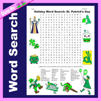 Holiday Word Search: St. Patrick's Day