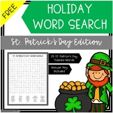 Free Word Search St. Patrick's Day Edition