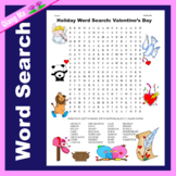 Holiday Word Search: Valentine's Day