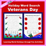 Holiday Word Search: Veterans Day