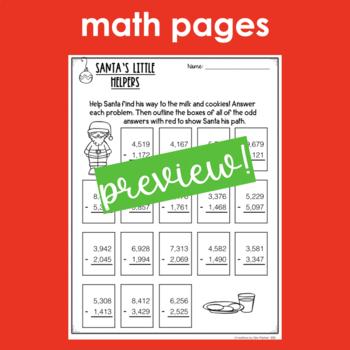 Holiday ELA and Math Print and Go