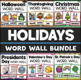 Holiday Word Wall BUNDLE Christmas Thanksgiving Halloween Valentines Day + MORE