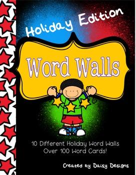 Holiday Word Walls