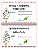 Holiday Word Work Cards on A Ring or a Ribbon!