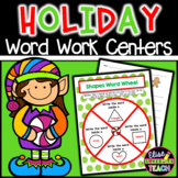 Holiday Word Work Centers