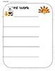 Holiday Word Work Sheet