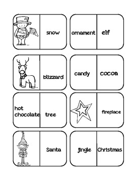 Holiday Word Work Vocabulary Dominoes
