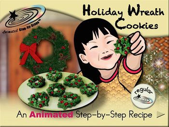 Holiday Wreath Cookies Animated Step By Step Recipe Regular By Bloom