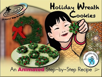 Holiday Wreath Cookies - Animated Step-by-Step Recipe SymbolStix