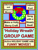 """""""Holiday Wreath Game"""" - Group Game, Craft, and Song for Christmas and Winter Fun"""