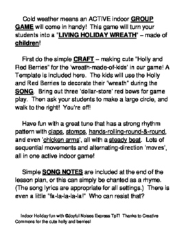 holiday wreath game group game craft and song for christmas and winter fun - Simple Plan Christmas Song