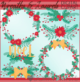 Holiday Wreaths and Laurels Clipart