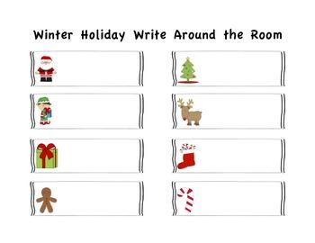Holiday Write Around the Room Bundle
