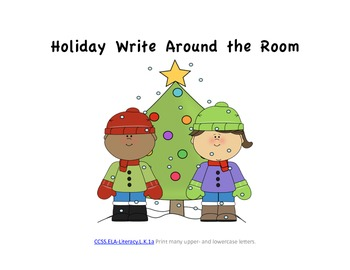 Winter Holiday Write Around the Room