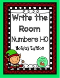 Holiday Write The Room Numbers 1-10