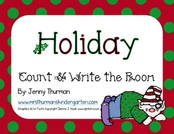 Holiday Write and Count the Room