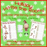 Holiday Write the Room! {one-time prep literacy center freebie}