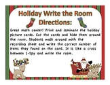 Holiday Write the Room (I Spy)