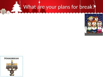 Holiday Writing Powerpoint- Virtual Classroom or Smart Board