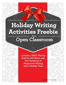 Holiday Writing Activities Freebie