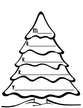holiday writing activities christmas acrostic poem tree acrostic
