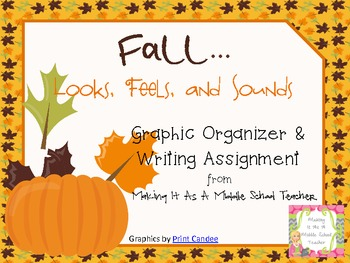 Holiday Writing Activity ~ Fall...Looks, Feels, & Sounds....