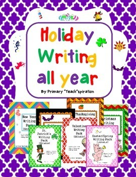 Writing All Year Bundle ~ {Editable}