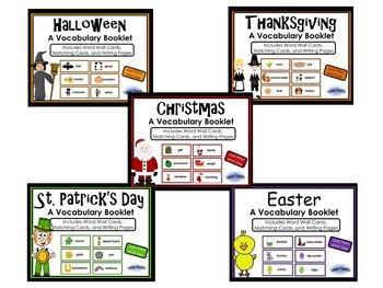 Holiday Vocabulary Booklets Bundle