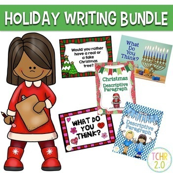 Holiday Writing Bundle Christmas Hanukkah Chanukah