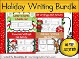 Holiday Writing Bundle: Letter to Santa, Printable Santa H