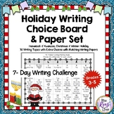 Holiday Writing Choice Board & Writing Paper Set for Hanuk