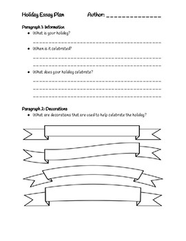 Holiday Writing Graphic Organizer