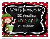 Holiday Writing Numbers to 100 Freebie