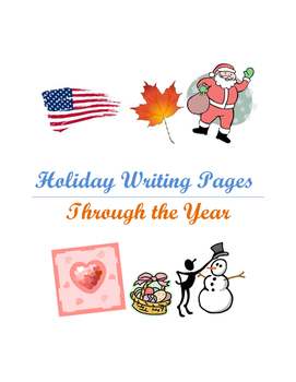 Holiday Writing Pages Through the Year