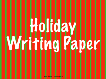 Holiday Writing Paper