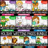 Holiday Writing Paper Growing BUNDLE