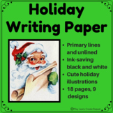 Holiday Writing Paper, Letters to Santa, Christmas Writing