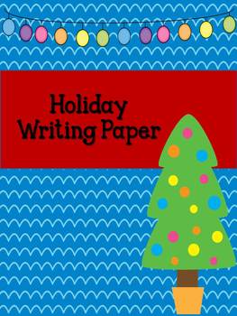 Holiday Writing Paper {Freebie!}